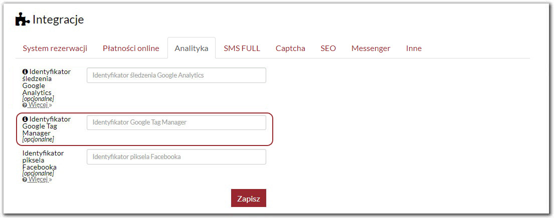 Integracja z Google Tag Manager